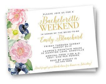 Bachelorette Weekend Invitation, Bachelorette Party Invitation, Bachelorette Weekend Invitations, Bachelorette Party Invites
