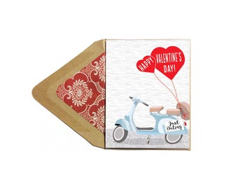 Valentines Just Dating Card - Love Card, Funny, Date-iversary, Anniversary