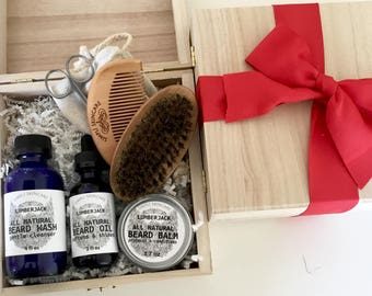 Valentines Day Gift for Him Beard Grooming Kit Valentines Gift for Husband Beard Gift Set Beard Brush Valentines Gift for Mens Gift Basket