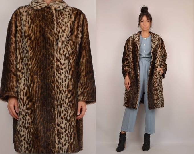60's Faux Fur Winter Coat Vintage