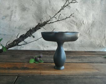 Little Gray Pedestal Bowl