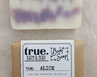 ALICE Body Soap | Organic Soap | Vegan Soap | Natural Soap | Handmade Soap | Cold Process Soap | Soap for Sensitive Skin