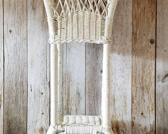 """32"""" TALL Wicker PLANT STAND Victorian Plant Stand Vintage Planter"""
