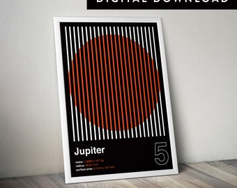 JUPITER (Printable Poster, Graphic Poster, Space Poster, Geometric Poster)