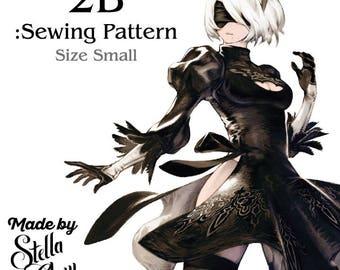 2B Nier Automata SIZE SMALL Instructional Sewing Pattern Bodice & Skirt