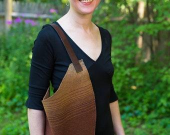 Shoulder bag, oversized tote purse, gradient stripes, best laptop bags, upcycled vintage bag, cool laptop bag 13 inch, bag large daily,