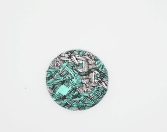 Fabric button brooch pin