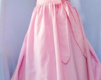 TRACHTEN DIRNDL Dress, Pink, Lace, Stag Horn Buttons, Oktoberfest, Bohemian, Country Looks, Alpine Dress, Bavarian Style,