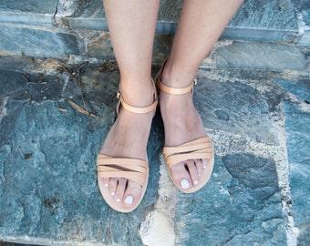 Handmade Women Sandals in Boho Style, Women Flats Summer Sandal Shoes