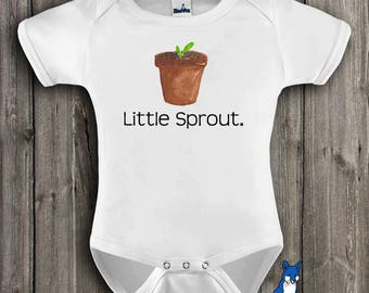 Spring Baby Clothes| Plant baby clothes| Little Sprout| Cute baby clothes| gardening baby bodysuit| adorable baby clothes| cute baby| GBS110