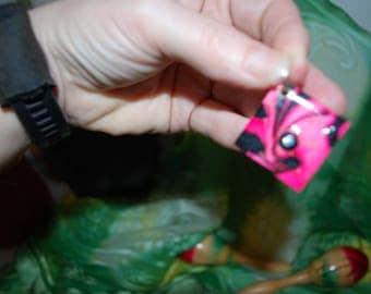 Pendant - #5123 Diamond Pink and Black