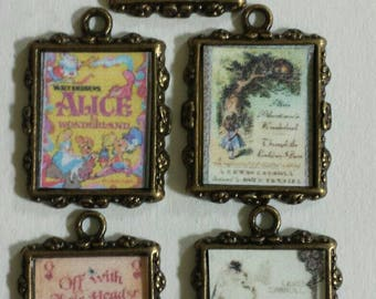 "Five (5) Vintage ""Alice"" Charms!"