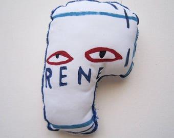 Wall art gift Basquiat sculpture graffiti creative textile art pop gadget home decoration art black gift birthday graduation man woman gift