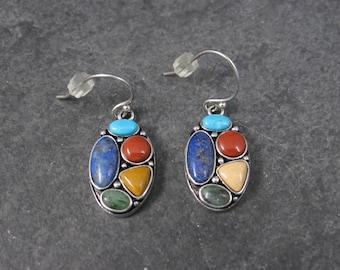 Vintage Sterling Gemstone Earrings