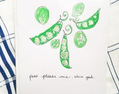 Peas Please Me - Hand Drawn Greeting Card