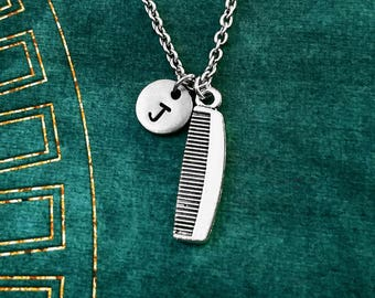 Comb Necklace SMALL Hair Comb Jewelry Hair Dresser Gift Beauty School Stylist Necklace Pendant Personalized Necklace Initial Necklace Barber