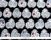 Black & White Sheep Fabric, Sheep Quilt Fabric, Farm Fabric, Kanvas Studio 8433 12 Wool Ewe Be Mine, Maria Kalinowski, Cotton Yardage