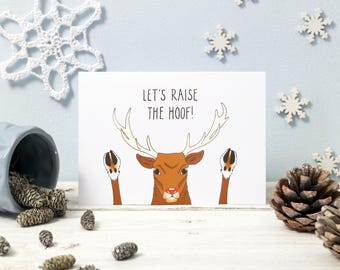 Let's Raise the Hoof! Reindeer Christmas Cards