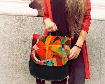 Colorful Bag, Computer Bag, Hand Bag, Women Backpack, Fashion Bag, Messenger Bag, Large Bag, Laptop Bag, Deep Bag, Boho Bag, Gift For Her
