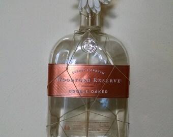Macrame Woodford Reserve Bottle Vase - Flower Vase - Macrame Vase - Woodford Vase