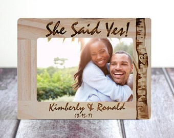 Engagement gift, She said Yes,  Gift for couple, Engagement gift- Romantic frame- Personalized Gifts for him or her, Wedding Gifts