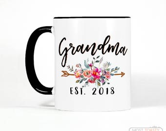 Custom Date Grandmother Gift | Grandma Gift | Birthday Gift for Grandma | Grandma Mug | Grandma Coffee Mug | New Grandma Gift Personalized