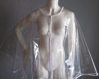 PVC Transparent Short Cape  (other colours available)