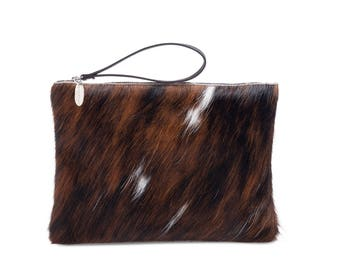 Cowhide Clutches  | Oversized Clutch | Large Cowhide Clutch | Handmade Clutch