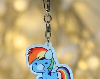 Wonderbolt Rainbow Dash Keychain Charm