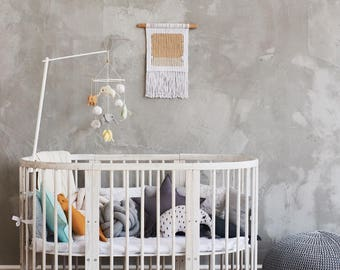 Minimalist Macrame Wall Hanging. Minimalist Wall Decor. Modern Fiber Art. Modern Macrame Wall Art. Nursery Wall Decor. Baby Shower Gift