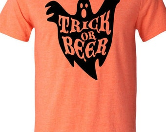 Halloween Mens Trick or Beer Shirt - Craft Beer TShirt