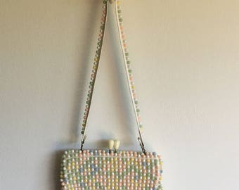 beaded hand bag | kissing lock