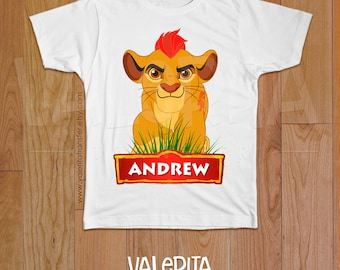 Lion Guard Birthday Shirt, lion guard Iron on, personalized shirt Lion Guard, Lion Guard Party Supplies, Birthday Boy Girl Shirt