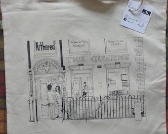 Handprinted Organic Cotton #CITYOFCULL Hull tote bag Nithered