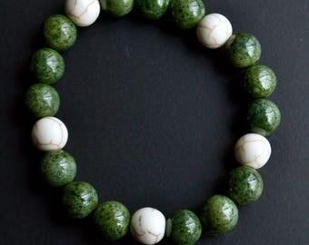 Chunky Bracelet - Jasper/White Howlite