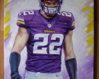 Minnesota Vikings Harrison Smith original oil painting