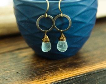 listen within . fluorite earrings