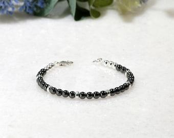 Haematite Bracelet | Hematite Jewellery | 925 Silver Gemstone Bracelet | Gift for Her | Gemstone Bracelet | Hematite Jewelry