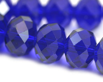 Chinese Crystal Super Large Rondelle Cobalt Blue 18x14mm