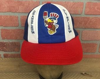 Vintage 1984 Los Angeles Summer Olympics Snapback Hat Sam The Eagle