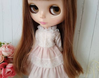 Blythe lace dress hand made clothes outfit miniature doll clothing 1/6 scale vinage style