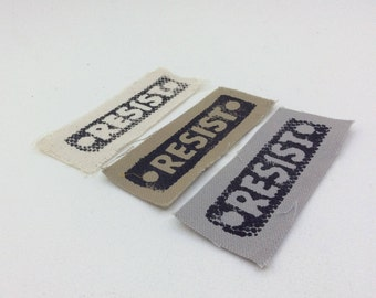 Resist Patch,Resist,protest patch,political patch,backpack patch,antifa,anti trump,anti capitalism,punk patch,anarchy,patches for jackets