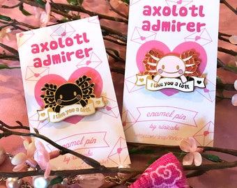 Axolotl Admirer Enamel Pin