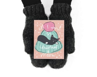 Christmas Cards / Christmas Card Set / Holiday Card Set / Cat Christmas / Holiday Cat card / Cat card / All I want for Christmas is Meow
