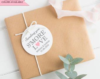 Smore love tags (30) - Smore tags - Smore wedding favors - Wedding tags - Sending you smore love tags