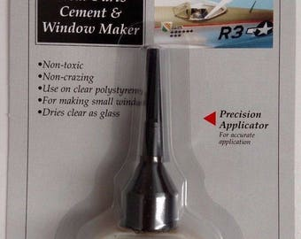 Testors 8876C - Clear Parts Cement & Window Maker - Dries Clear As Glass