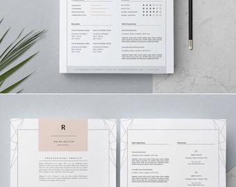 feminine resume stylish resume template cover letter for