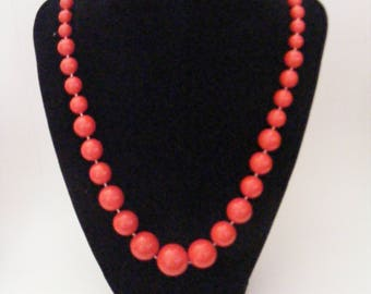 Vintage Red Beaded Necklaces Buyers Choice
