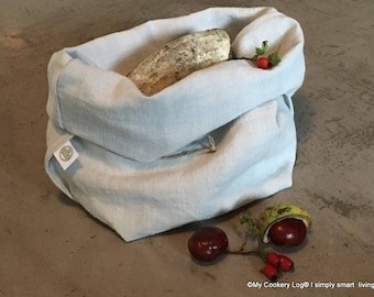 Two in One I Linen Bread basket & bag for the optimal storage of bread and Co. I Upcycling of linen I Zero Waste I
