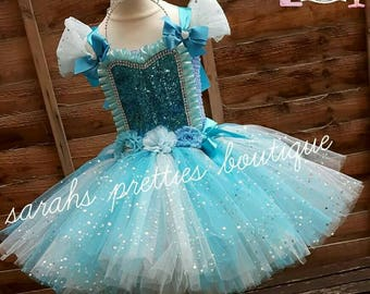 Elsa frozen inspired tutu dress
